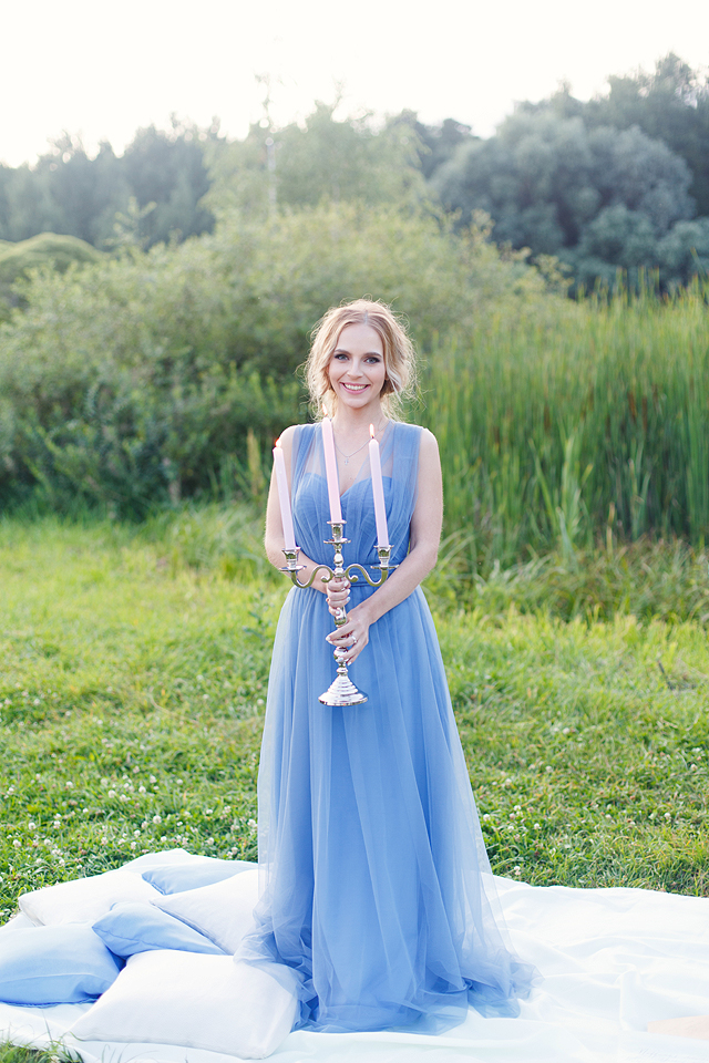 Powder blue tulle dress | Stasya Dementyeva Photography | see more on: http://burnettsboards.com/2015/12/sky-inspired-engagement/
