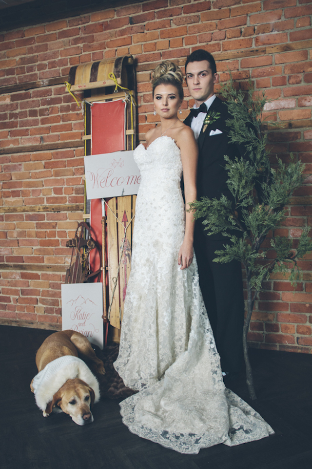 Winter wedding ideas | Lauryn Ann Photography | see more on: http://burnettsboards.com/2015/12/ski-themed-winter-wedding/