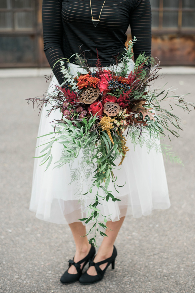 Winter bridal bouquet | Stephanie Ramsey and Melissa Malouf | see more on: http://burnettsboards.com/2015/12/christmas-wedding-ideas/