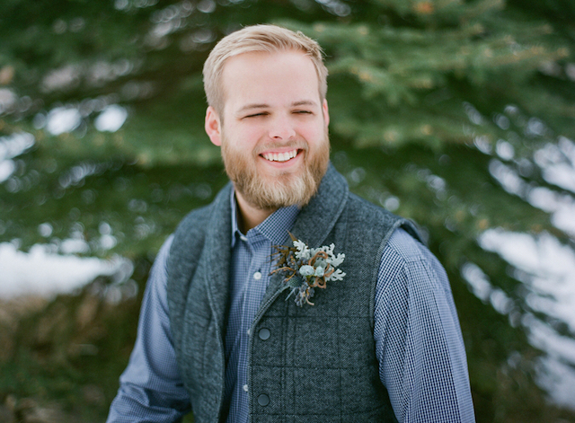 Winter groom | Shannon Von Eschen Photography | see more on: http://burnettsboards.com/2015/12/grooms-shoot/