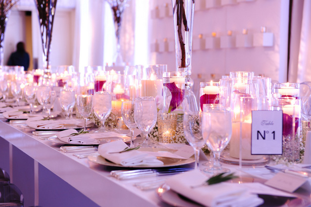 Long Table Wedding Centerpiece - Hyde Park Photography