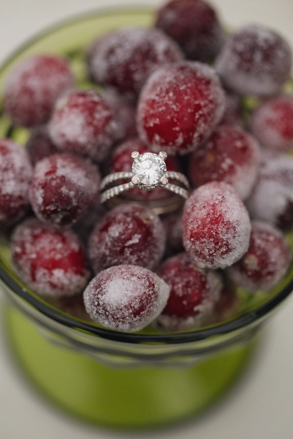 engagement ring - photo by Janeane Marie Photography http://ruffledblog.com/christmas-tree-farm-inspiration-shoot