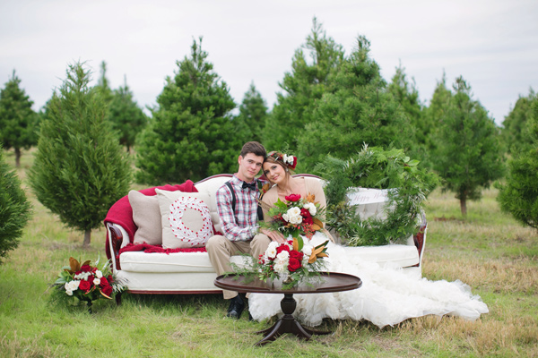 Ruffled - photo by Janeane Marie Photography http://ruffledblog.com/christmas-tree-farm-inspiration-shoot