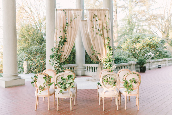 romantic ceremony setup - photo by Kim James Photography http://ruffledblog.com/best-of-2015-wedding-ceremonies