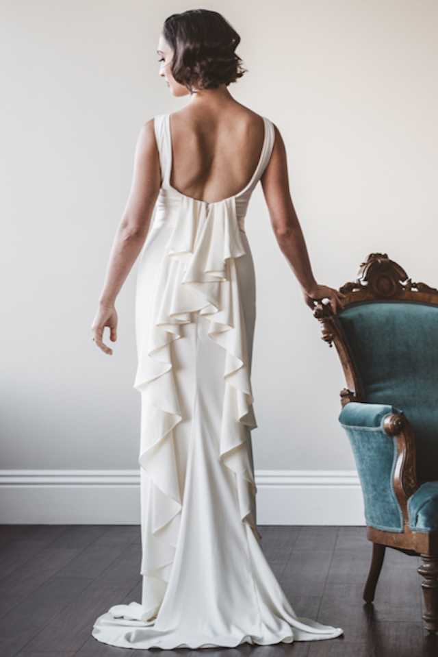 Hollywood glam wedding dress | Cari Courtright Photography | see more on: http://burnettsboards.com/2015/12/vintage-glam-bridal-boudoir/