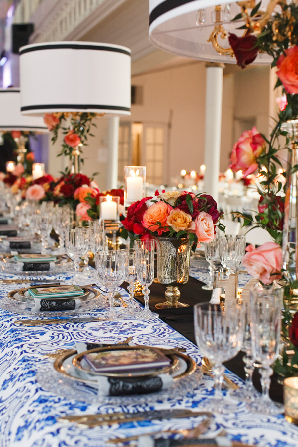 glam elegant tablescape - photo by BoyfriendGirlfriend http://ruffledblog.com/best-of-2015-wedding-receptions