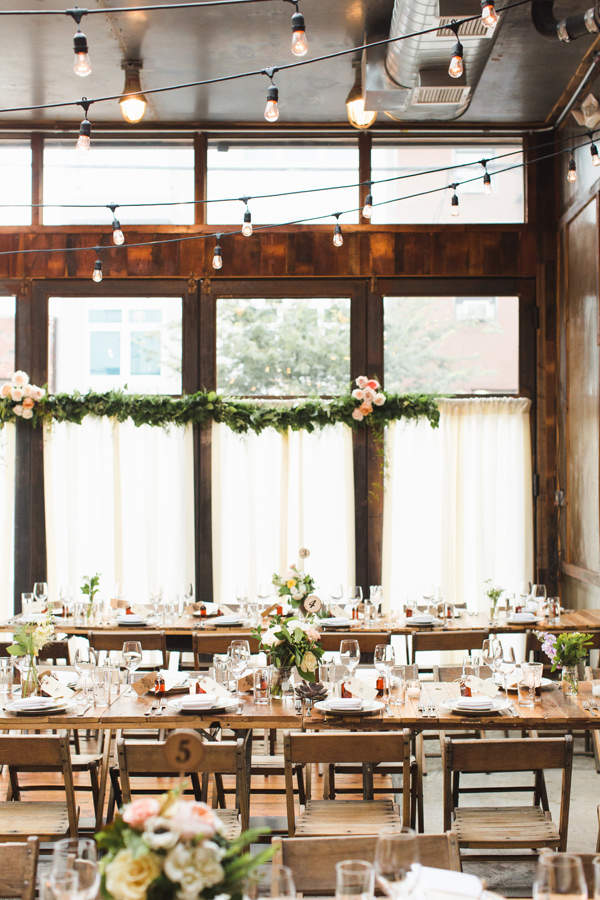 Brooklyn Winery reception - photo by Ashley Caroline http://ruffledblog.com/best-of-2015-wedding-receptions