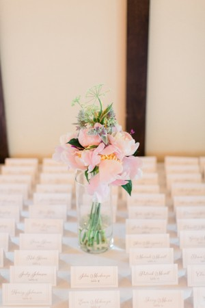 Escort card table - Dan and Melissa Photography