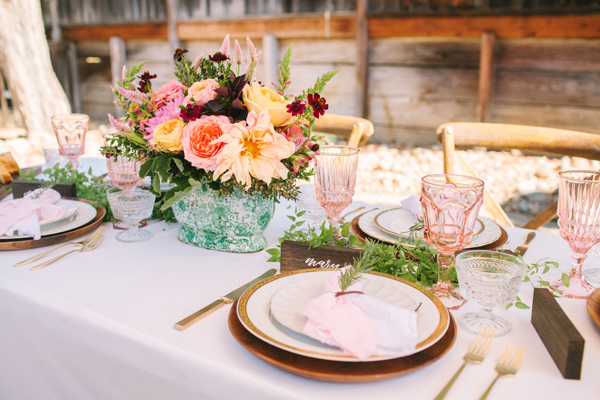 Ruffled - photo by Yasmin Sarai Photography http://ruffledblog.com/rose-inspired-bridal-shower