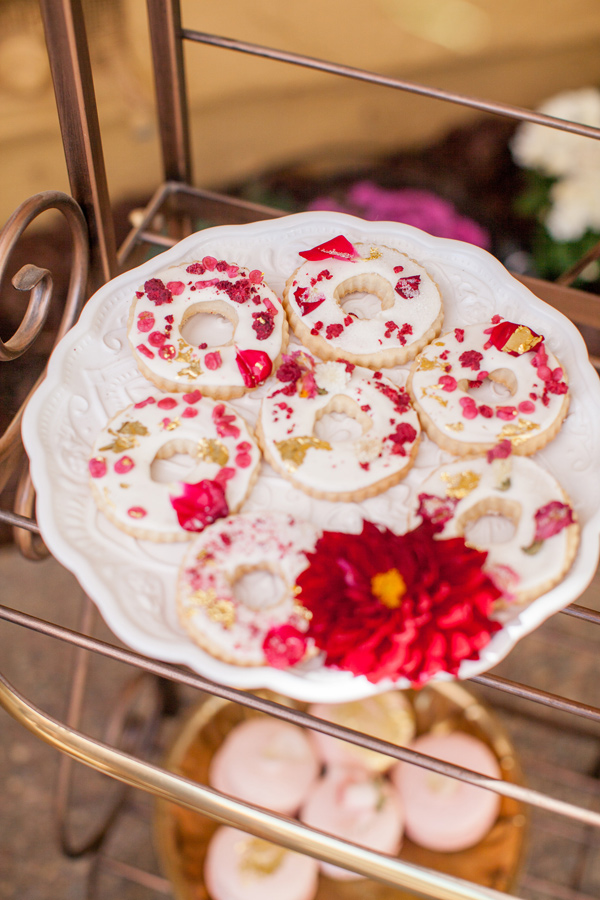 bridal shower cookies - photo by Yasmin Sarai Photography http://ruffledblog.com/rose-inspired-bridal-shower