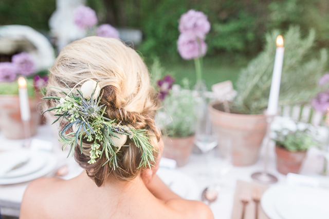Chic bridal updo | Chris Loring Photography | see more on: http://burnettsboards.com/2015/12/roots-shoot-an-elegant-organic-farm-wedding/