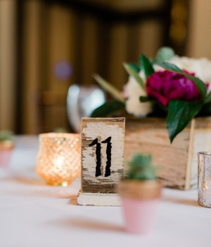 Table Number - Dan and Melissa Photography