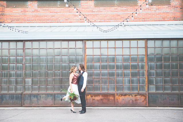 Blanc wedding venue in Denver, Colorado | Stephanie Ramsey and Melissa Malouf | see more on: http://burnettsboards.com/2015/12/christmas-wedding-ideas/