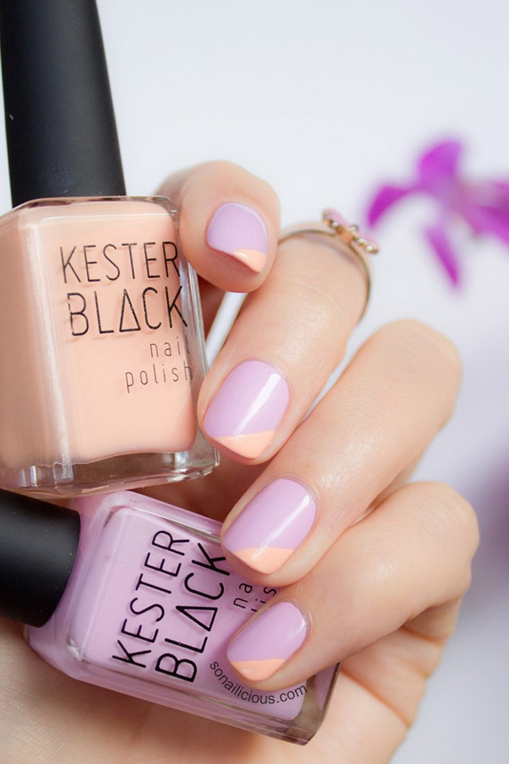 lilac and peach