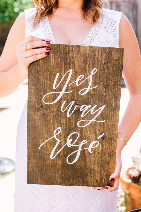 bridal shower sign - photo by Yasmin Sarai Photography http://ruffledblog.com/rose-inspired-bridal-shower