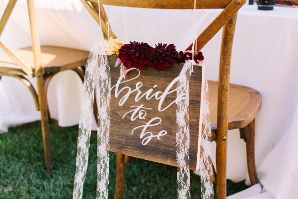 bride to be sign - photo by Yasmin Sarai Photography http://ruffledblog.com/rose-inspired-bridal-shower