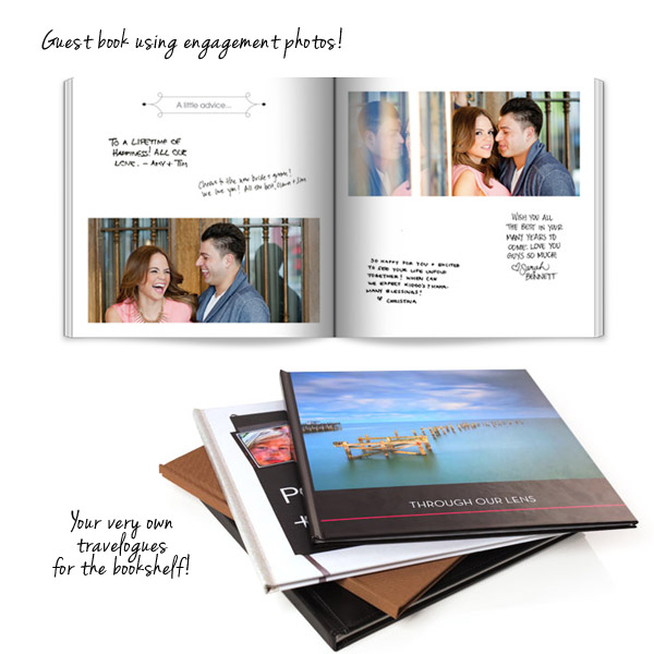 shutterfly make my book easy affordable professionally designed wedding photo book engagement guest book ideas travelogue album