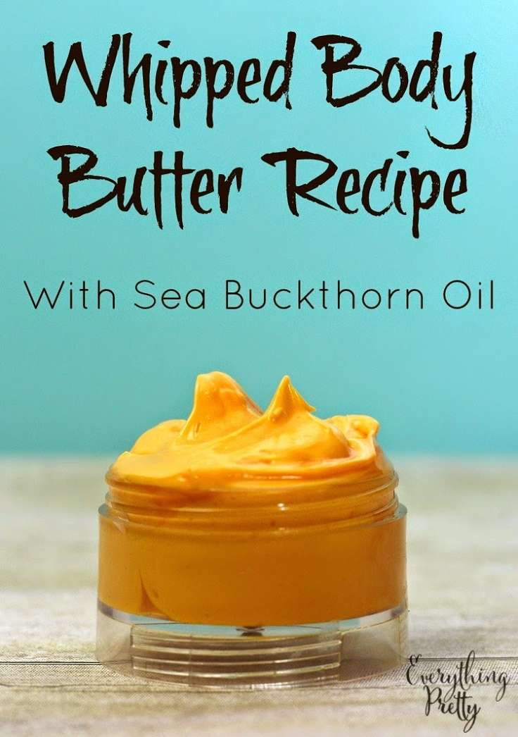 body butter with sea buckthorn oil