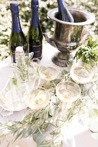 Champagne station | V.A. Photography | see more on: http://burnettsboards.com/2015/12/eastern-shore-wedding/
