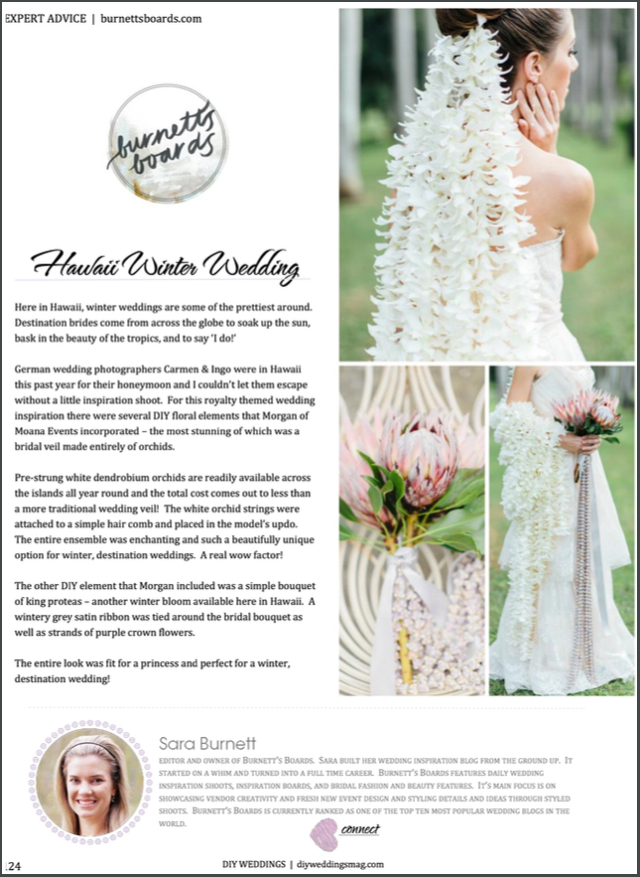 Orchid veil DIY | see more on: http://burnettsboards.com/2016/01/publishing-blogs-v-print/