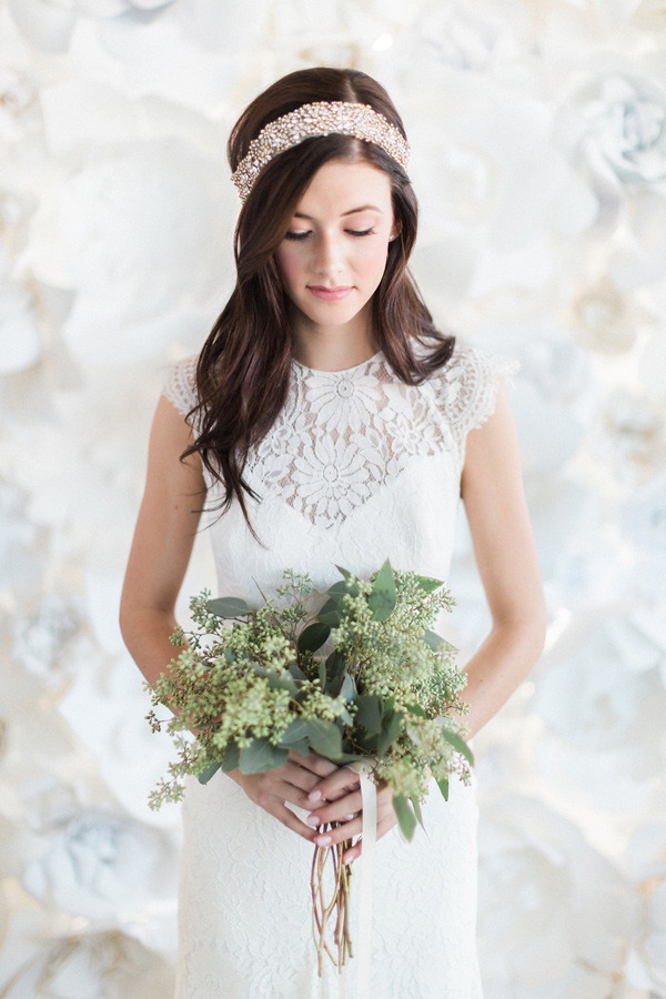 boho bride - photo by Heidrich Photography http://ruffledblog.com/monochrome-bridal-inspiration