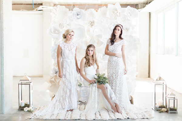 Ruffled - photo by Heidrich Photography http://ruffledblog.com/monochrome-bridal-inspiration
