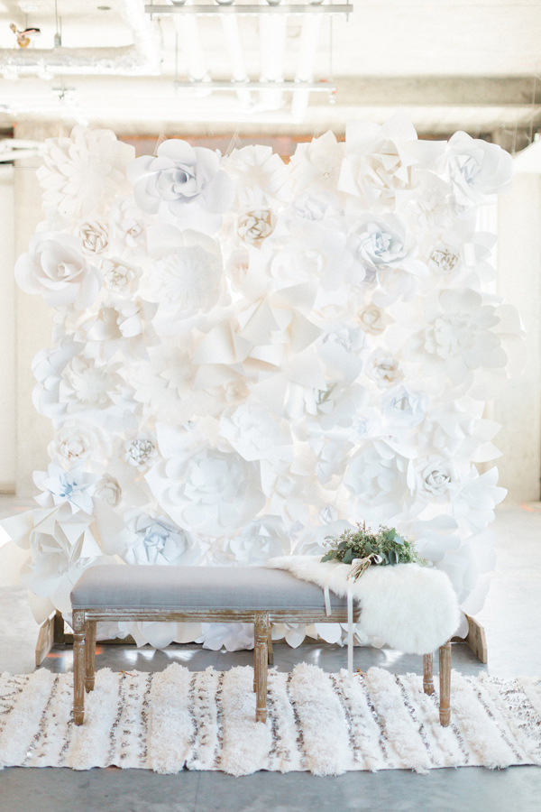 bohemian inspired lounge area - photo by Heidrich Photography http://ruffledblog.com/monochrome-bridal-inspiration