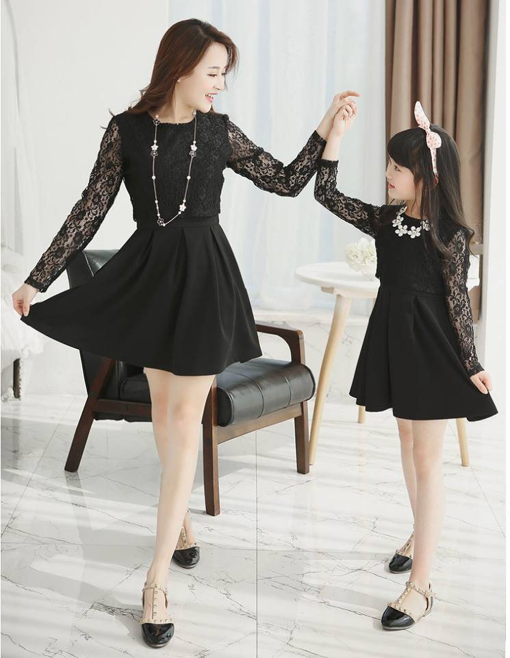 cute and matching outfits for mother and daughter (7)