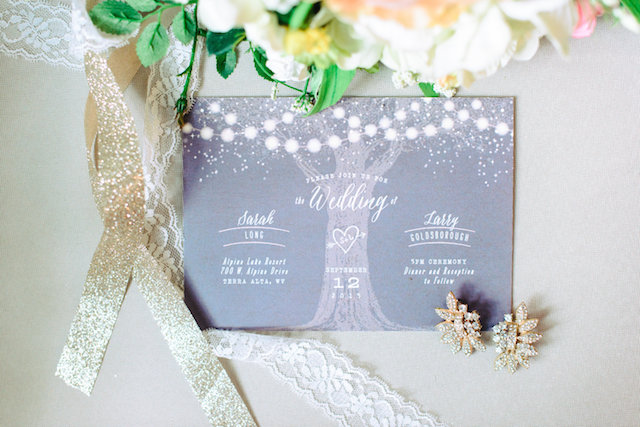Rustic glam wedding invitations | Madison Short Photography | see more on: http://burnettsboards.com/2016/01/taylor-swift-inspired-wedding/
