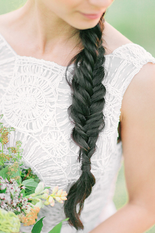 Long hair braid | Sofia Martynova | see more on: http://burnettsboards.com/2016/01/eco-bride/