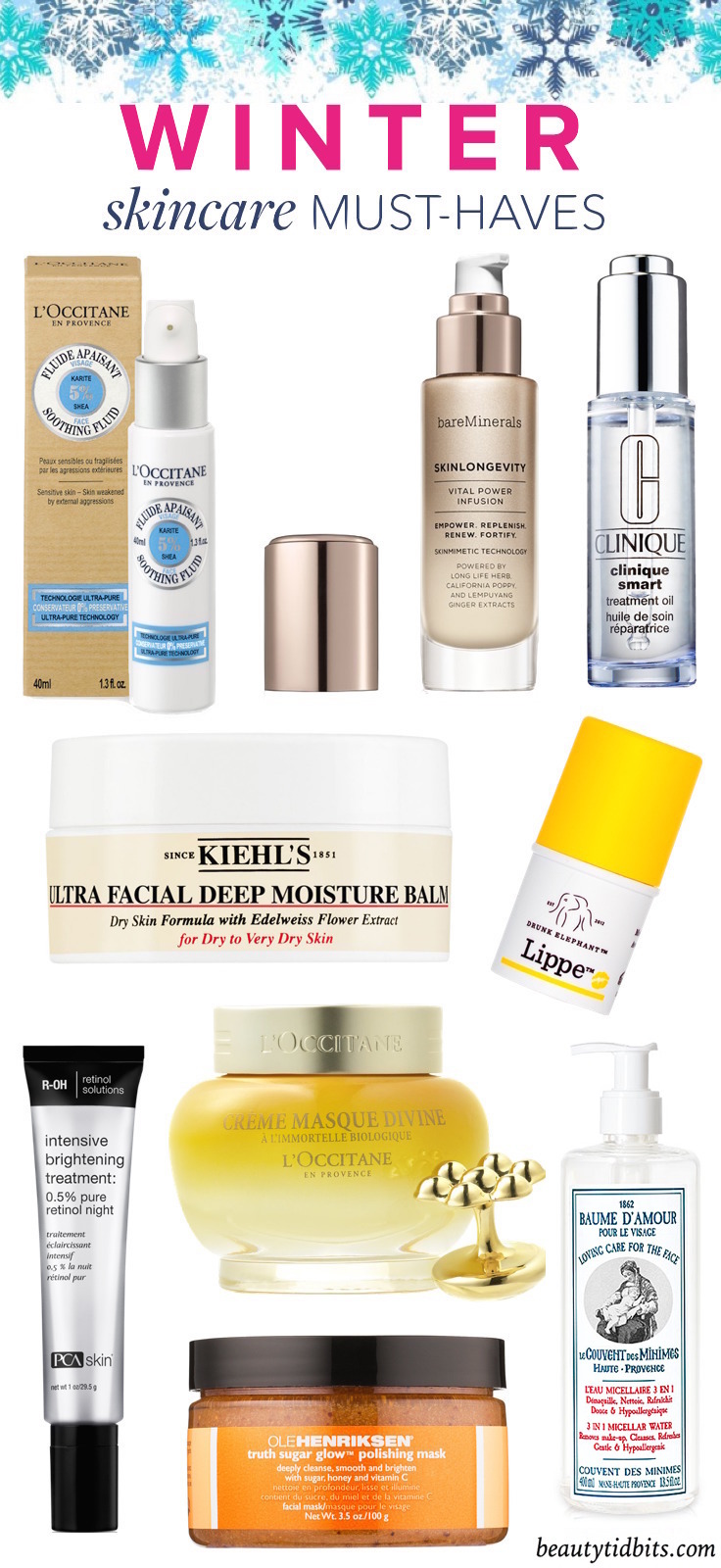 Save your skin with these winter skincare essentials, which are designed to soothe, nourish and lock moisture in—no matter how frigid things get outside!