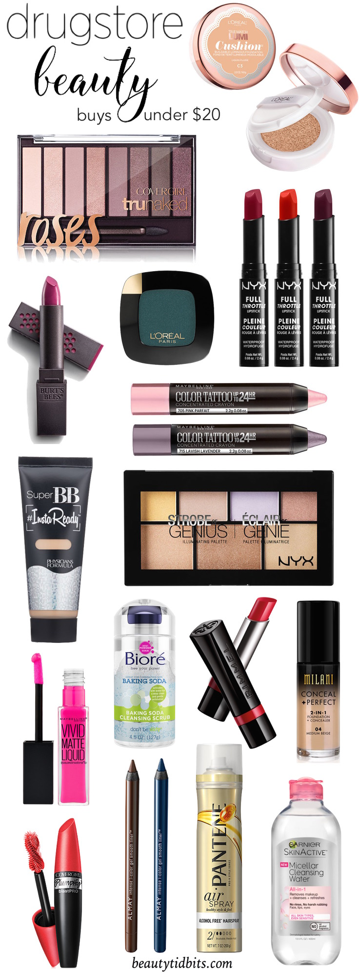 Amp up your look for the new year with these exciting new drugstore beauty products - all under $  20!