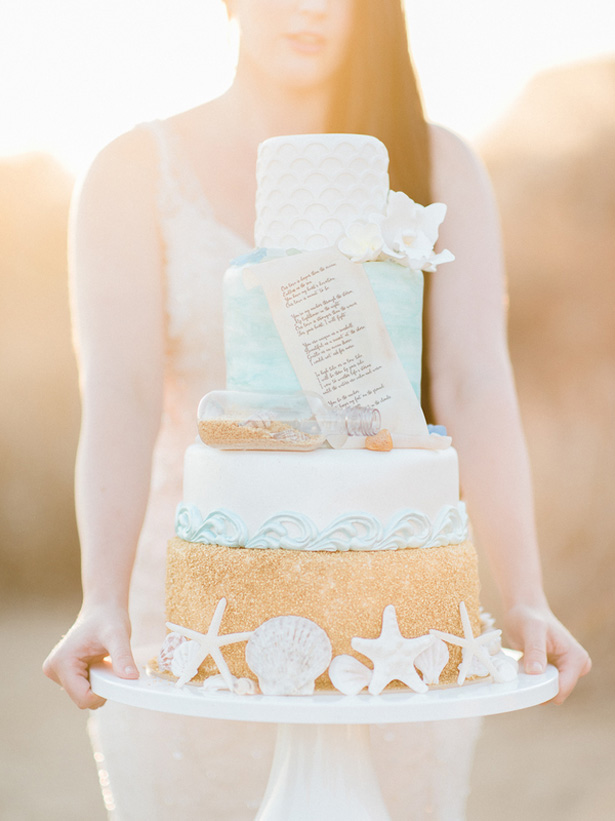 Beach inspired #Wedding cake - Angelica Chang Photography