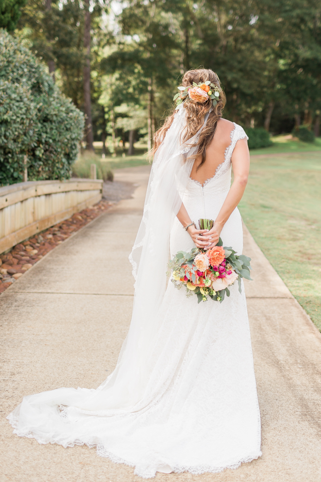 Flower crown with veil   Alicia Lacey Photography   see more on: http://burnettsboards.com/2016/01/darling-outer-banks-wedding/
