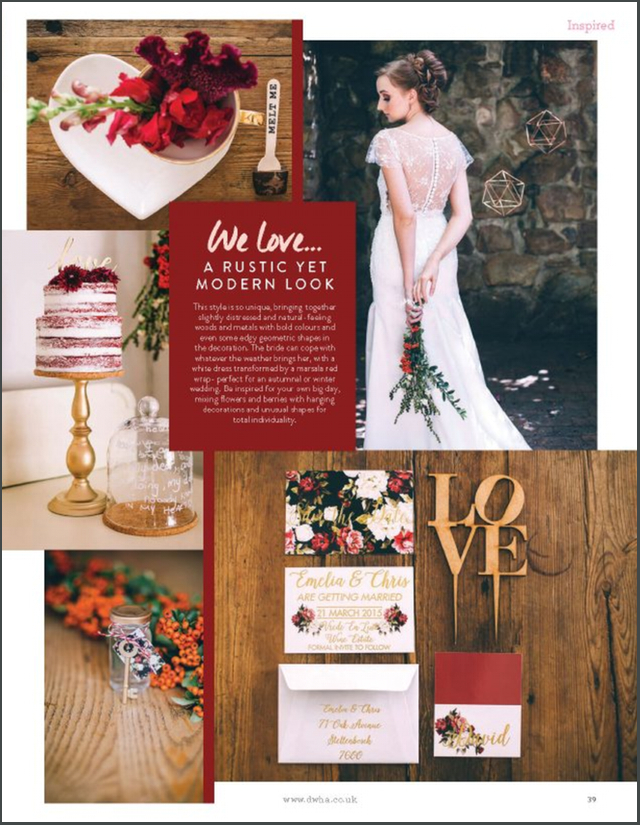 Marsala wedding ideas | see more on: http://burnettsboards.com/2016/01/publishing-blogs-v-print/