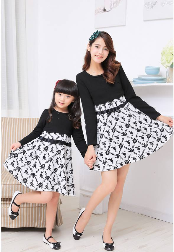 cute and matching outfits for mother and daughter (4)