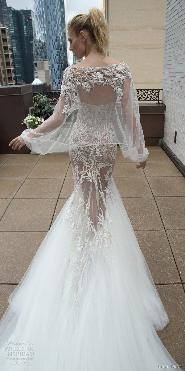 inbal dror 2016 strapless sweetheart mermaid wedding dress heavily embellished bodice style 14 bkv train illusion cape