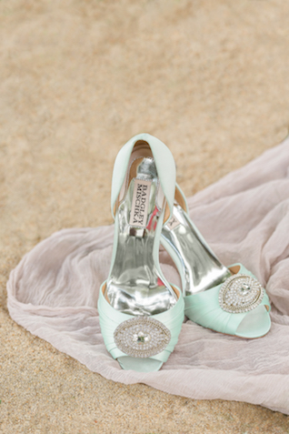 Mint wedding shoes   Alicia Lacey Photography   see more on: http://burnettsboards.com/2016/01/darling-outer-banks-wedding/