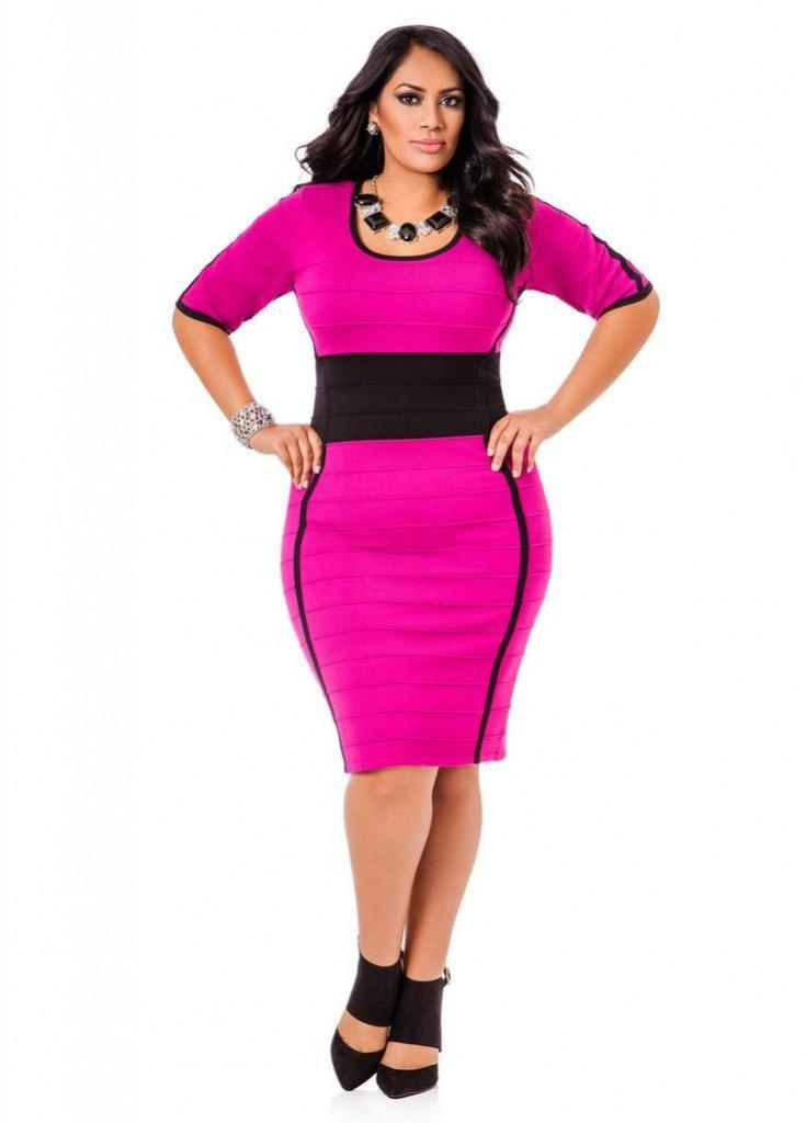 pink outfits for plus size girls (12)