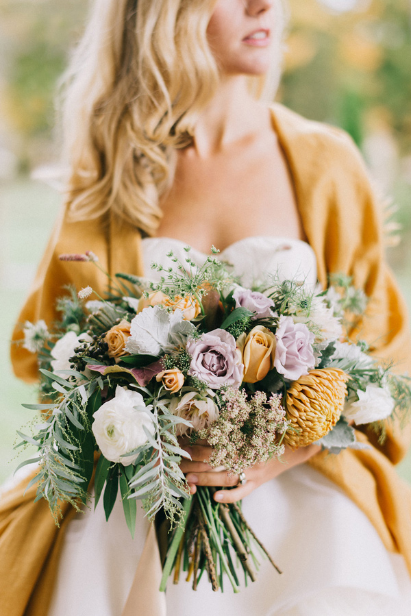 lavender rose bouquet - photo by Lindsay Hackney Photography http://ruffledblog.com/autumn-styled-shoot-at-aldworth-manor