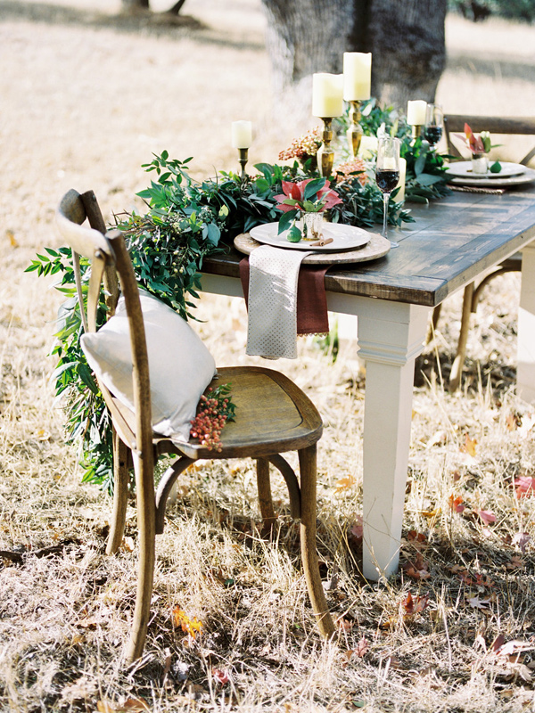 rustic elegant reception - photo by Rebecca Masters Photography http://ruffledblog.com/mountain-vineyard-wedding-inspiration