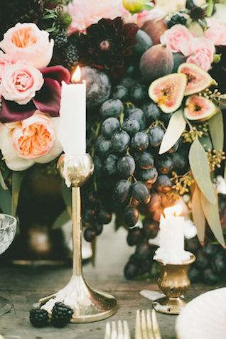 Candles and grapes | see more on: http://burnettsboards.com/2016/01/publishing-blogs-v-print/