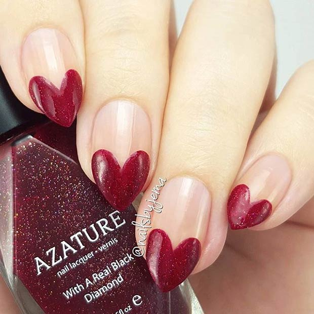 35 Cute Valentine\'s Day Nail Art Designs | Beauty