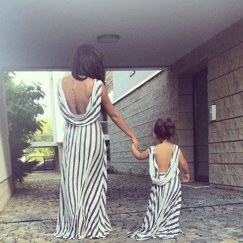 matching clothes for mother and daughter