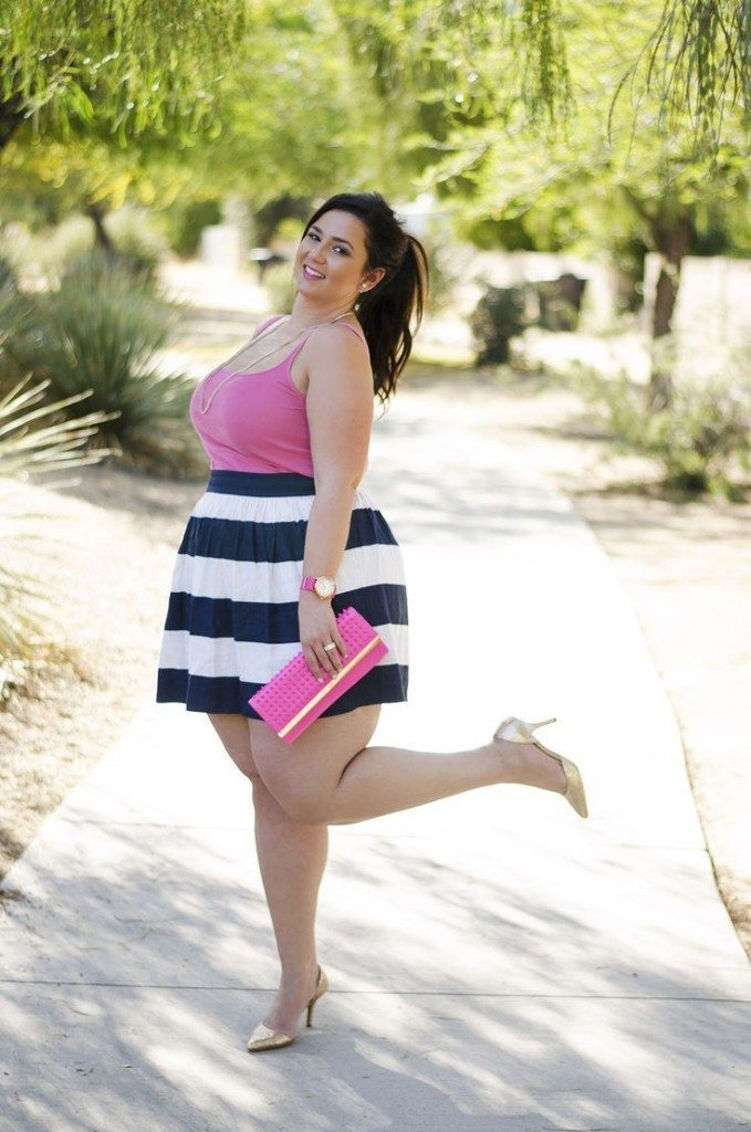 pink outfits for plus size girls (14)