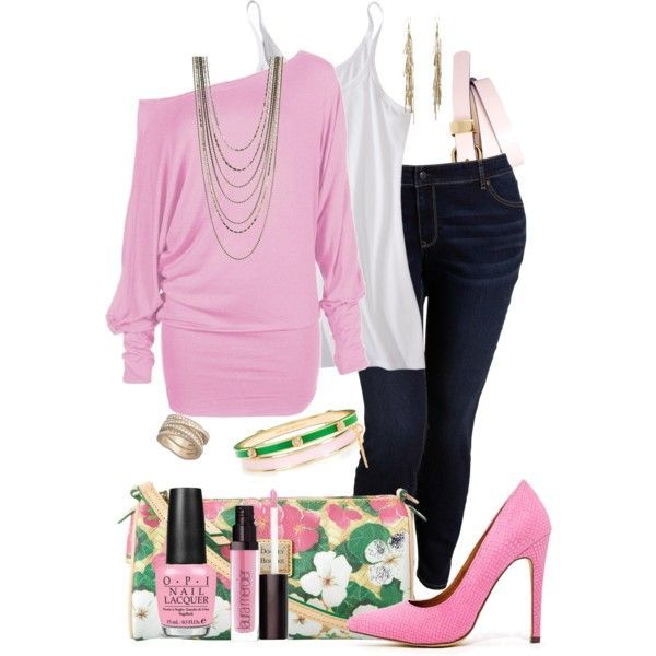 pink outfits for plus size girls (8)