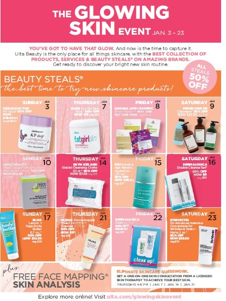 Ulta Beauty Glowing Skin Event - Beauty steals & deals