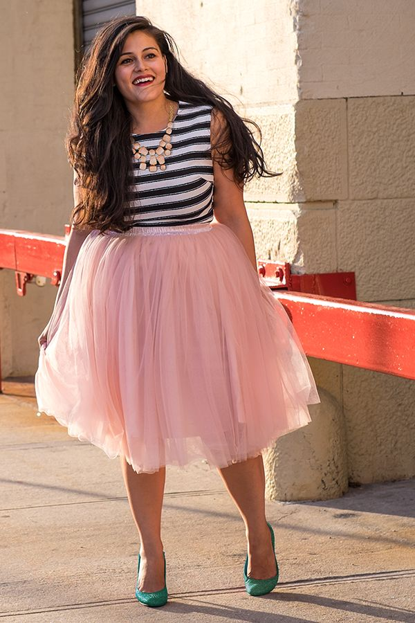 pink outfits for plus size girls (10)
