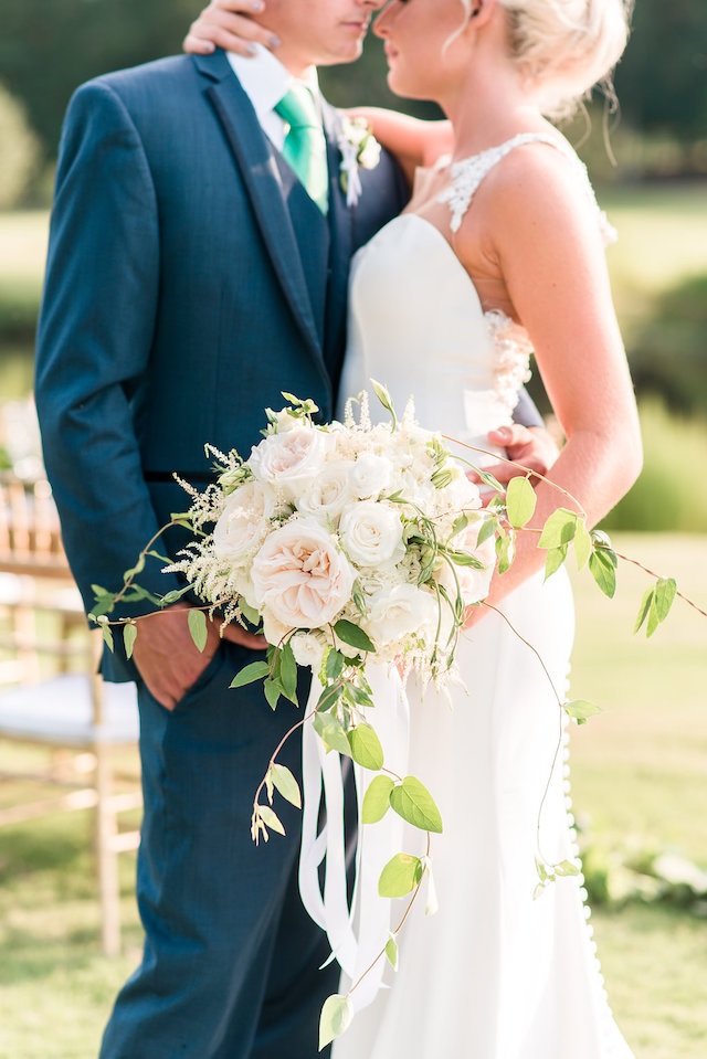 Classic white peony bridal bouquet | Audrey Rose Photography | see more on: http://burnettsboards.com/2016/01/masters-golf-tournament-inspired-wedding/