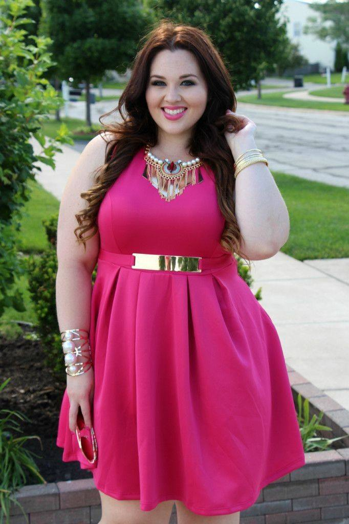 pink outfits for plus size girls (9)